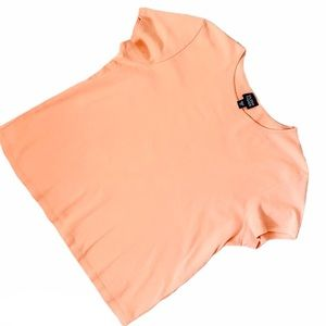 Eileen Fisher Orange Short Sleeve Top Sz Medium